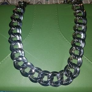 Bold Silver Statement Necklace